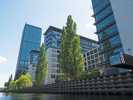 modern Treptower building in Berlin Editorial