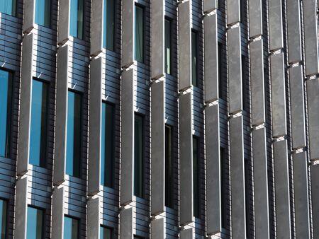 sky scraper: Modern glass facade of a sky scraper