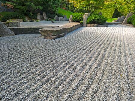 Japanischen Steingarten in einem öffentlichen Park Standard-Bild