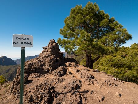 palma: National Park on La Palma Canary Islands Stock Photo