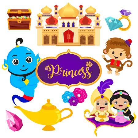 Princess and Prince Arabian fairytale set
