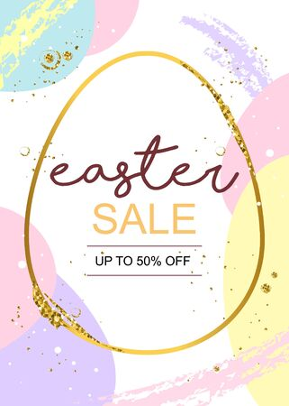 Easter sale poster 일러스트