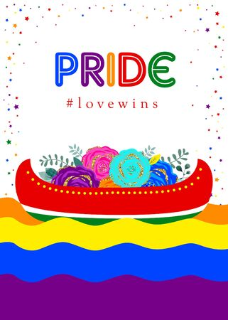 Support LGBT Pride. Freedom. Love. Vector. Template for poster, banner, card.
