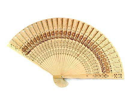 Asian bamboo a black fan  photo