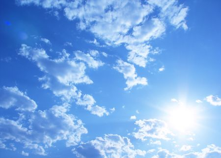 Sunny sky background photo