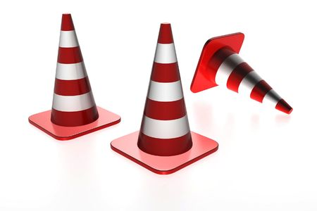 Three traffic cones  Stock Photo - 4939552