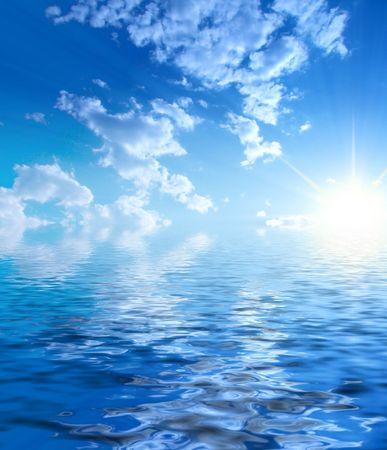 Sunny sky background Stock Photo