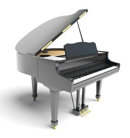 klavier: schwarze Klavier