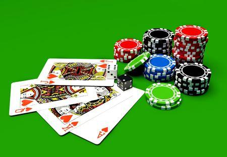 kartenspiel: Casino-Tisch