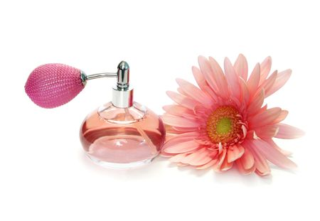 pink perfume and beautiful flower