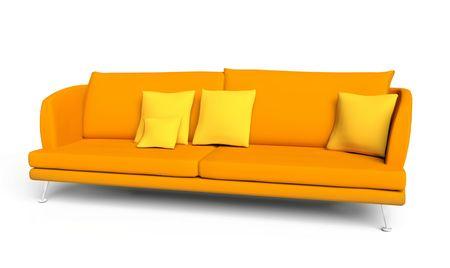 orange sofa Stock Photo - 6070349