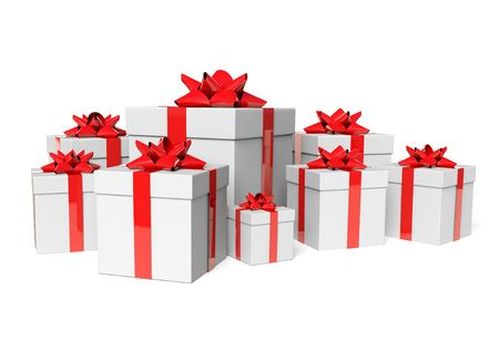 Group white gifts Stock Photo - 6070393