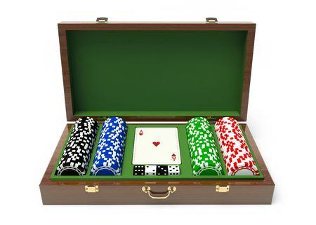 box gambling chips photo