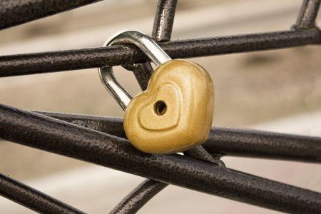 Locked heart photo