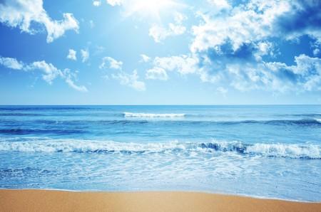 tropical climate: Tropical beach Stock Photo