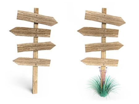 Wooden arrow photo