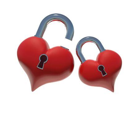 Hearts unlock Stock Photo - 9222511