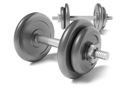 three dimensional background: Two dumbbells
