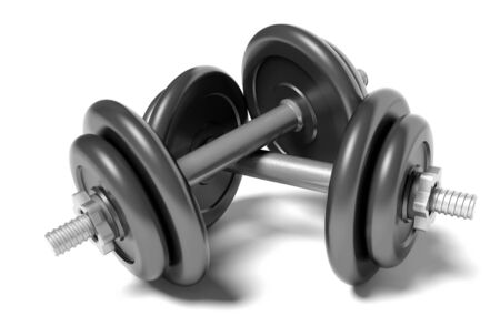 Two dumbbells photo