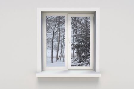 Winter in the window Stock Photo - 9222674
