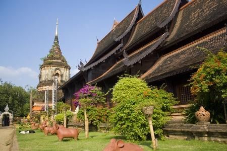 royal park: Wat Lok Malee in Chiang Mai, Thailand Stock Photo