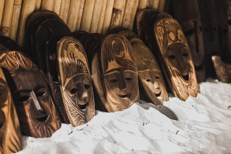 african mask: Exotic mask