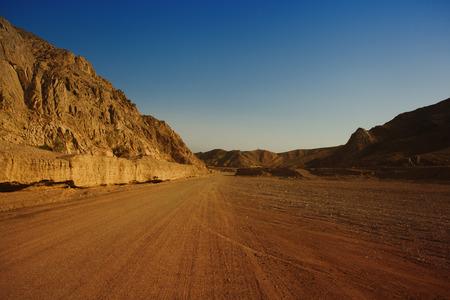 extreme heat: desert canyon Stock Photo