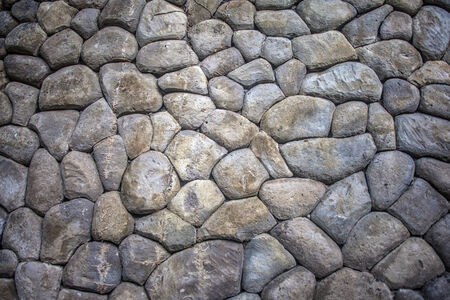 Stone wall in a tropical country, Thailand