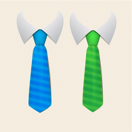 gift accident: Two stripped tie Illustration