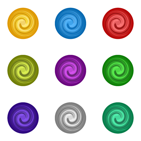 Colorful set circle paint. Vector illustration.