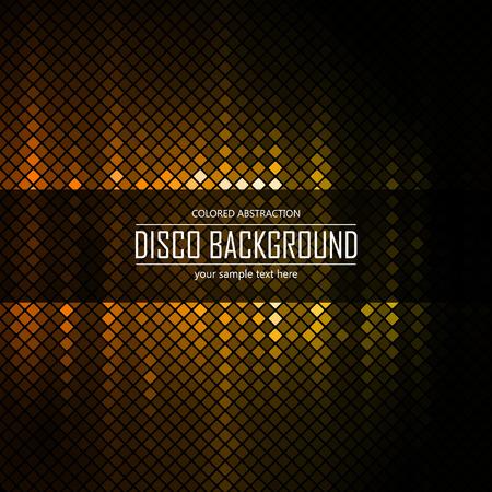 lighten: Golden disco lighten background. Vector illustration.
