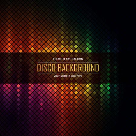 lighten: Colorful disco lighten background. Vector illustration. Illustration
