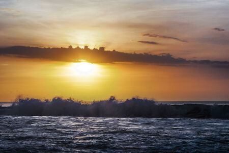 Sunset on the beach photo