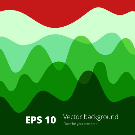 Flat colored wave, design background Vector