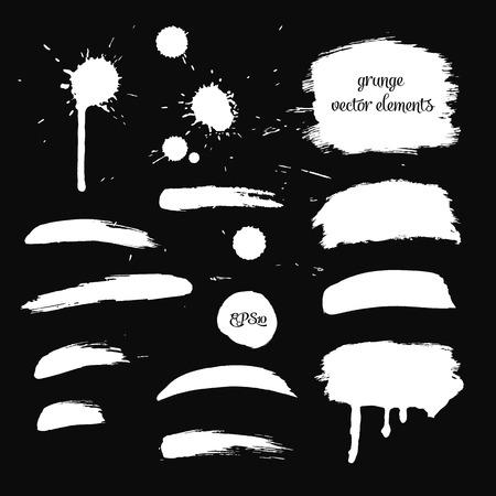 element for design: Collection black grunge watercolor element for design