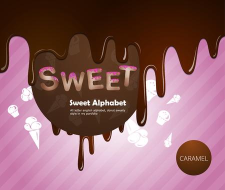 cartoon ice cream: Alfabeto dulce