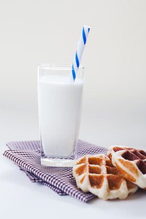 Breakfast milk with wafer