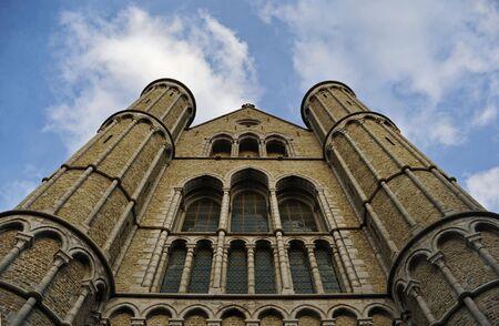 Bruges:  Medieval Catholic Church in Bruges, Belgium Zdjęcie Seryjne