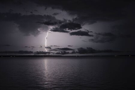 Lightning bolt on the St Johns River Zdjęcie Seryjne