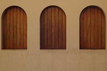 three wood windows photo