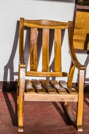 rustic wood chair Stock Photo - 24537496