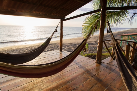 hammock in sunshine beach Banque d'images