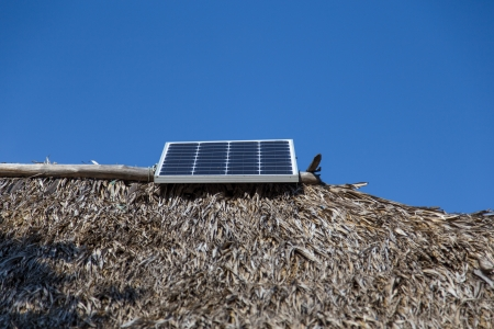conserving: solar energy in ecologycal build