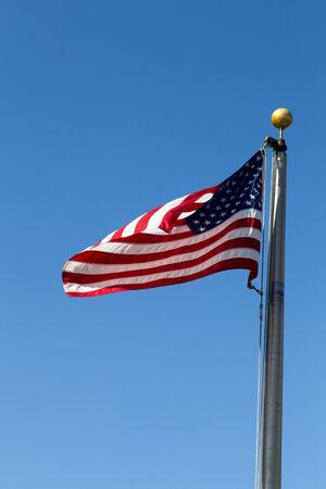deteriorated: US flag