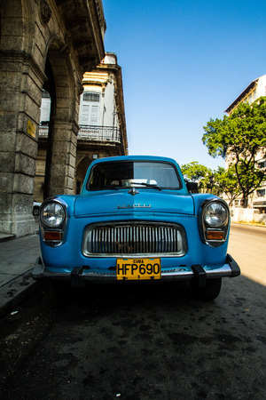 old car in cuban street