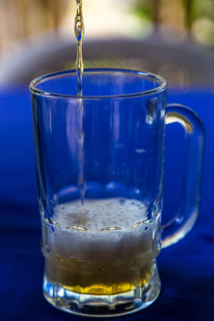 beer glass at outdoors photo
