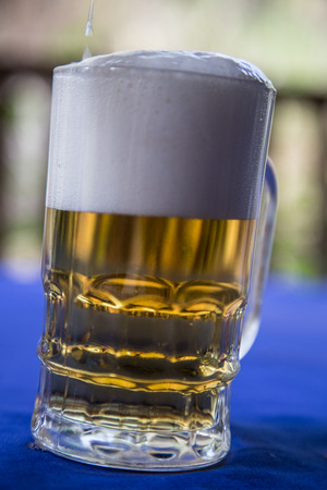 pilsner glass: beer glass at outdoors