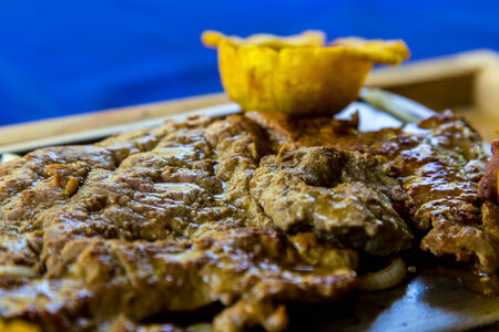 prepared beef steak photo