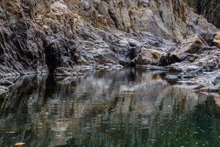 reflections in river  photo