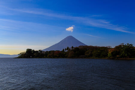 Ometepe view with blue sky photo